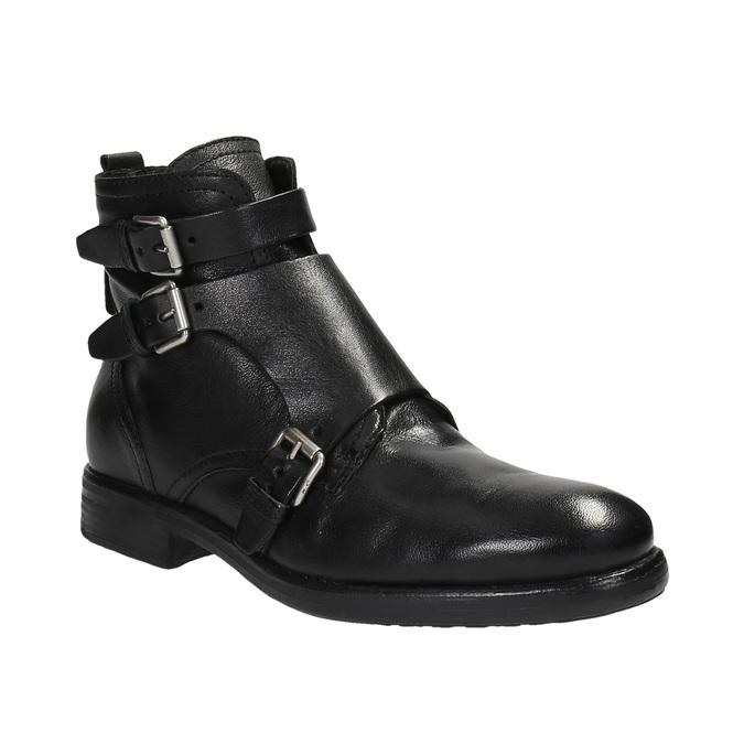 Kožená obuv s přezkami bata, černá, 894-6683 - 13