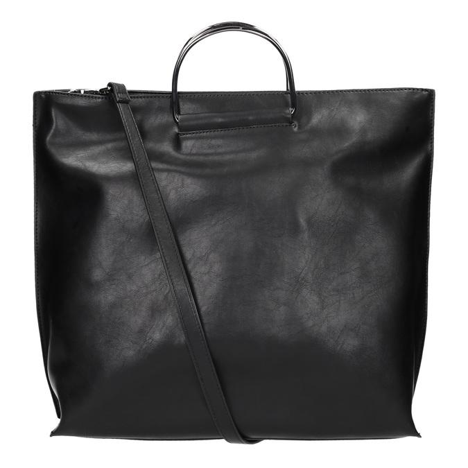 Dámská kabelka s kovovými uchy bata, černá, 961-6789 - 19