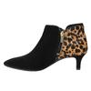 Kožená kotníčková obuv na nízkém podpatku rockport, černá, 613-6006 - 26