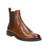 Kožená kotníčková obuv v Chelsea stylu vagabond, hnědá, 514-6009 - 13