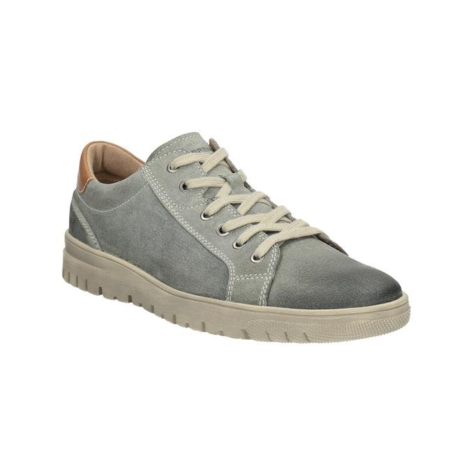Pánské kožené tenisky weinbrenner, šedá, 843-2620 - 13