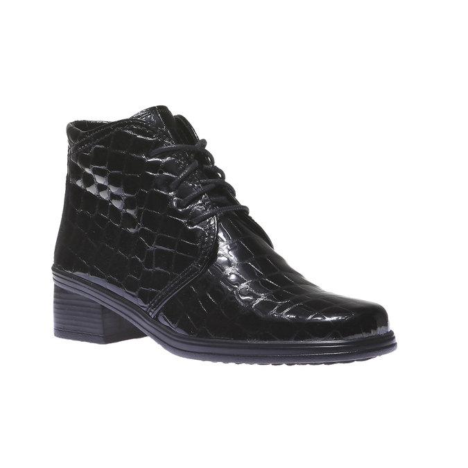Kožené kotníčkové boty gabor, černá, 598-6104 - 13