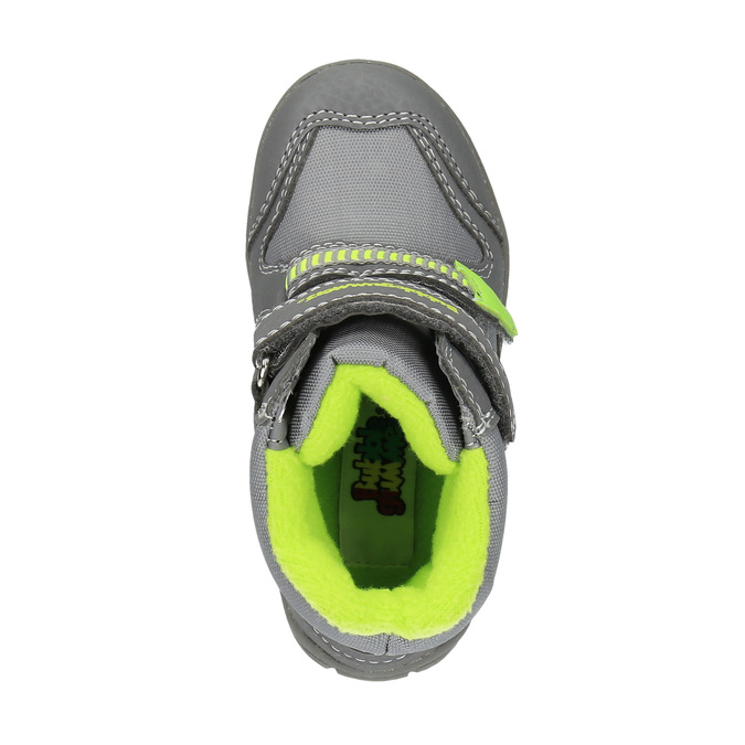 Dětská zimní obuv s reflexními detaily bubblegummer, šedá, 199-2601 - 19