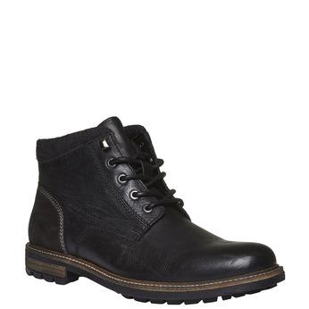 Kožená zimní obuv kotníčková bata, černá, 894-6133 - 13