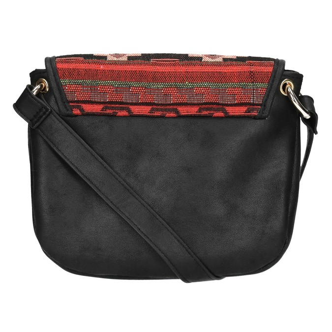 Crossbody kabelka s Etno vzorem bata, černá, 969-6642 - 26