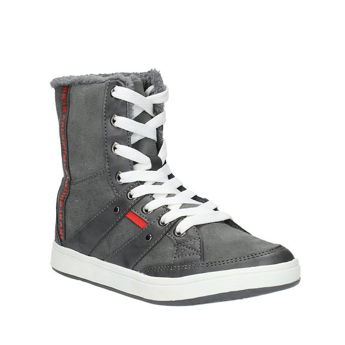 Dámská kotníčková obuv s kožíškem bata, šedá, 599-2606 - 13