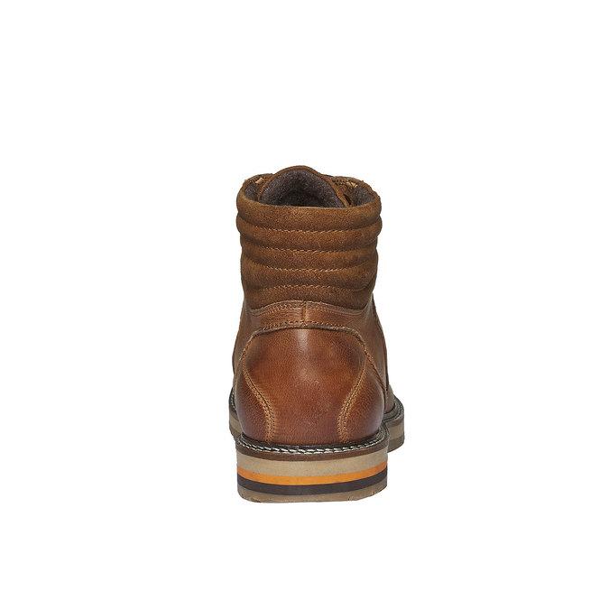 Kožené zimní boty ke kotníkům bata, hnědá, 894-3100 - 17