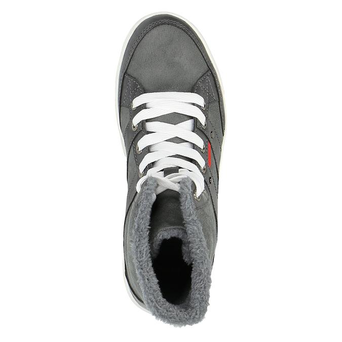 Dámská kotníčková obuv s kožíškem bata, šedá, 599-2606 - 19