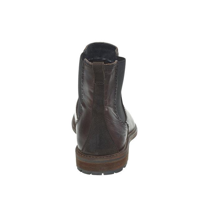 Kožená Chelsea obuv bata, hnědá, 894-4113 - 17