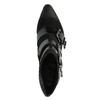 Kožená kotníčková obuv s přezkami diesel, černá, 723-6421 - 19