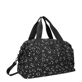 Cestovní taška s puntíkovaným vzorem bjorn-borg, černá, 969-6013 - 13