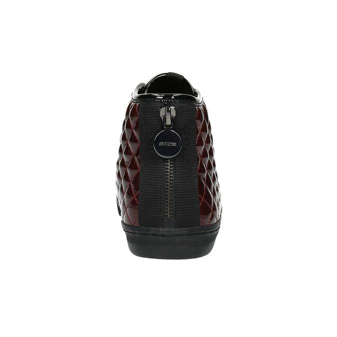 Dámské kotníčkové tenisky s prošíváním geox, černá, 521-6033 - 17