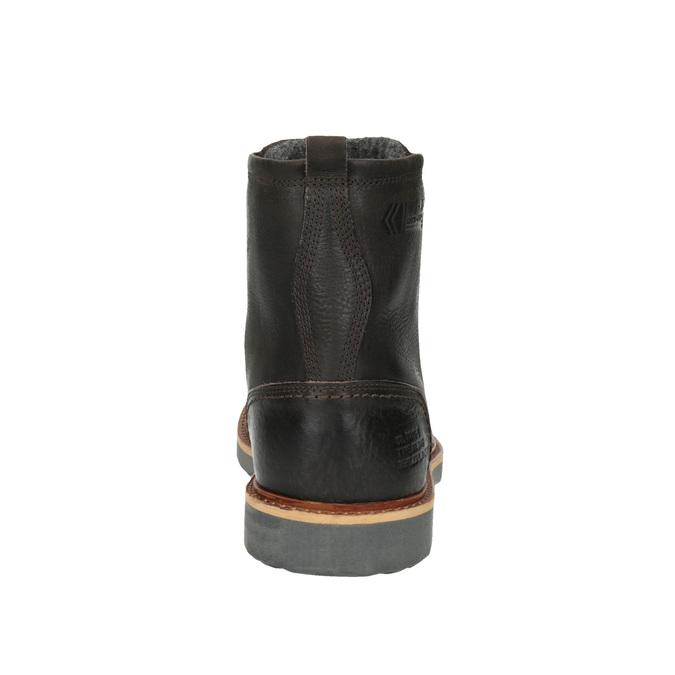 Pánská kožená zimní obuv bata, hnědá, 894-4659 - 17