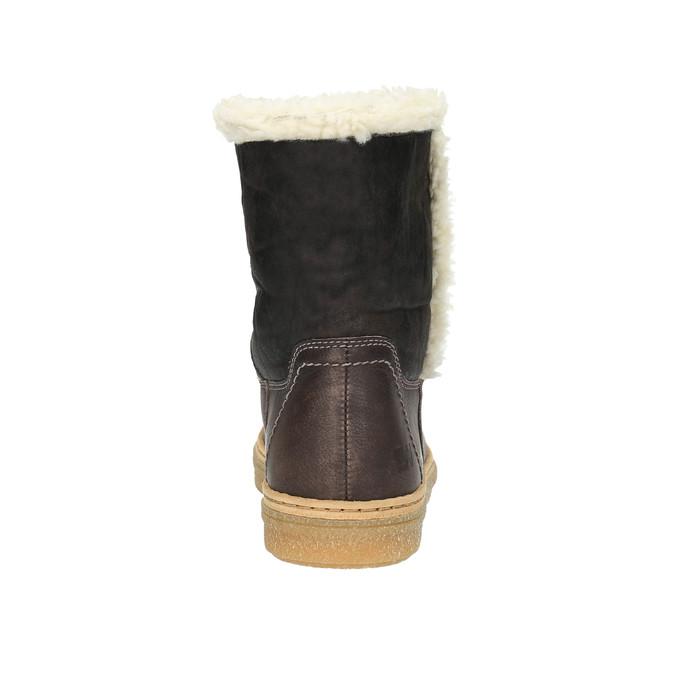 Kožená zimní obuv s kožíškem weinbrenner, hnědá, 596-8628 - 17