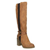 Hnědé kozačky na masivním podpatku bata, hnědá, 699-5602 - 13