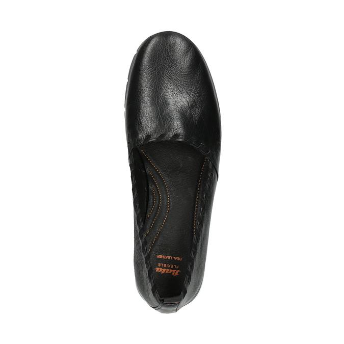 Dámské kožené Slip-on s obšitím flexible, černá, 514-6257 - 19