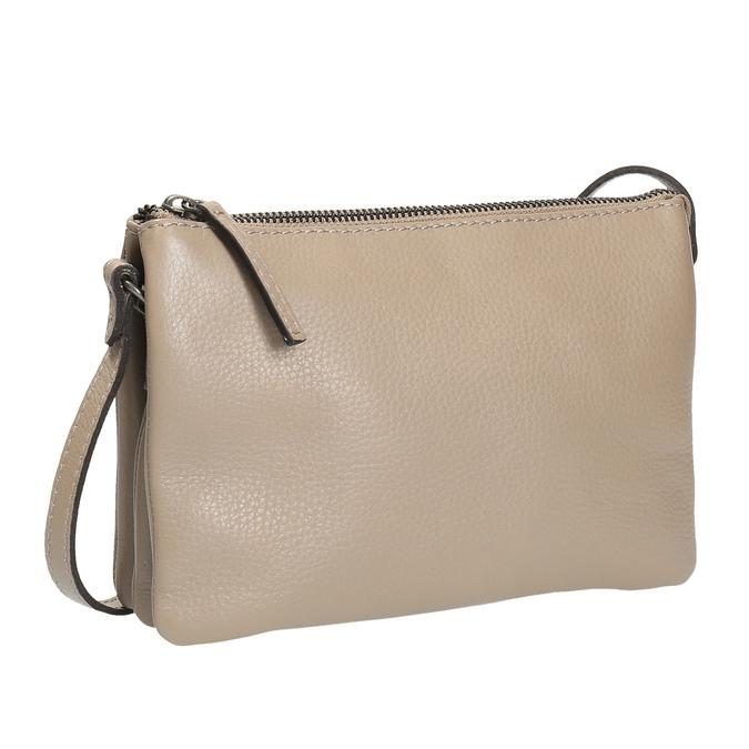 Béžová kožená Crossbody kabelka bata, béžová, 964-8212 - 13