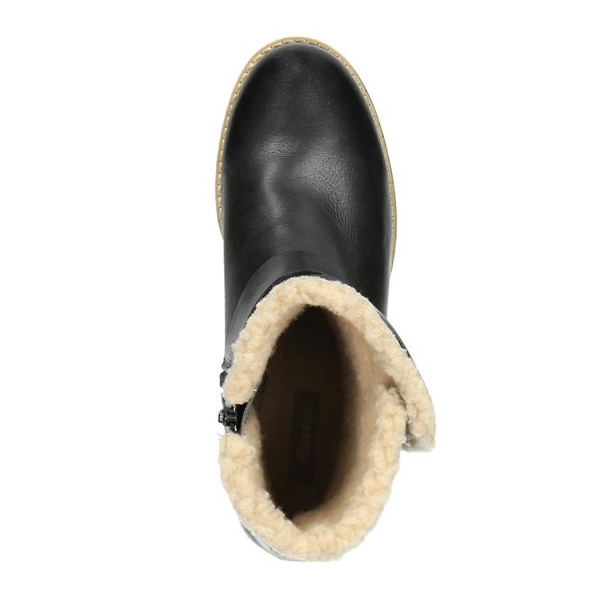 Dámská obuv s kožíškem bata, černá, 594-6609 - 19