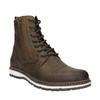 Kožená kotníčková obuv bata, hnědá, 896-4641 - 13