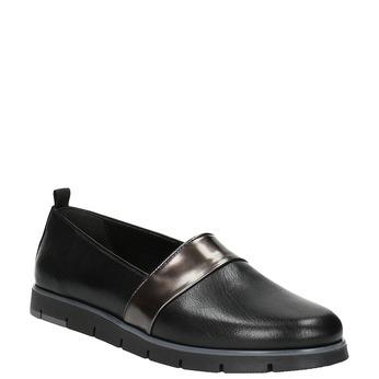 Dámské kožené Slip-on černé flexible, černá, 514-6252 - 13