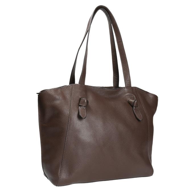 Dámská kožená kabelka hnědá bata, hnědá, 964-4205 - 13
