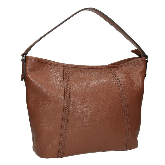 Kožená kabelka v Hobo stylu bata, hnědá, 964-3206 - 13