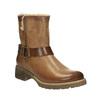 Kožená zimní obuv s kožíškem bata, hnědá, 594-4609 - 13