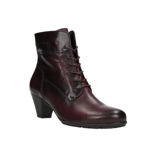Dámská kotníčková obuv gabor, červená, 694-5262 - 13