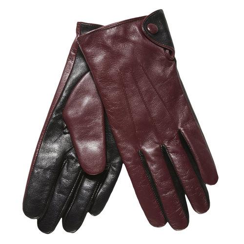 Kožené dámské rukavice bata, červená, 903-5101 - 13