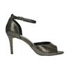 Sandály na jehlovém podpatku se zlatými odlesky bata, černá, 729-8630 - 15