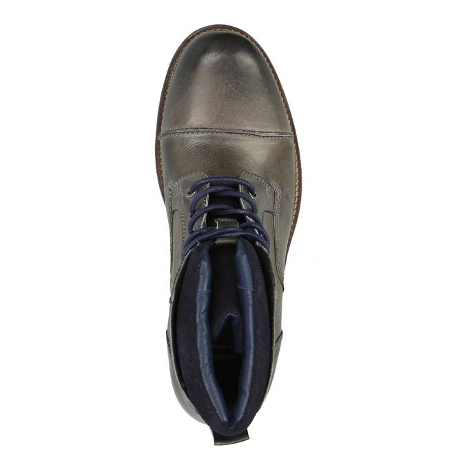 Pánská kožená obuv bata, šedá, 894-2650 - 19