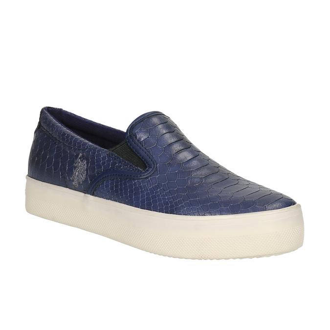 Dámská obuv ve stylu Slip-on u-s-polo-assn-, modrá, 511-9071 - 13