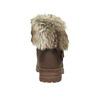 Dámská kotníčková obuv s kožíškem bata, hnědá, 591-4601 - 17