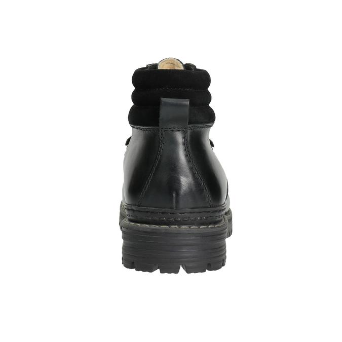 Pánská kožená zimní obuv bata, černá, 894-6180 - 17