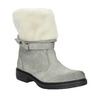 Kožená zimní obuv s kožíškem manas, šedá, 596-2601 - 13