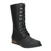 Dámská kožená obuv šněrovací sorel, černá, 596-6003 - 13
