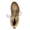 Kožená kotníčková obuv se zateplením bata, hnědá, 594-4610 - 19