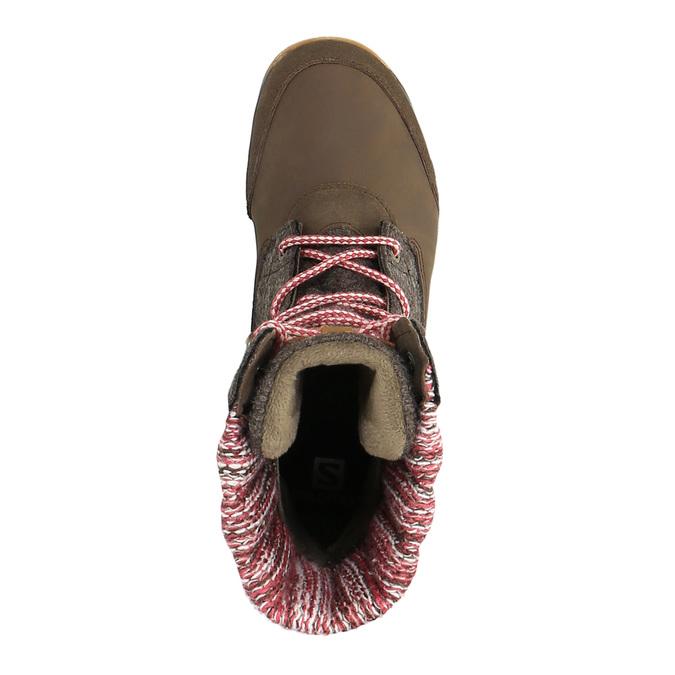 Dámská zimní obuv salomon, hnědá, 693-4050 - 19