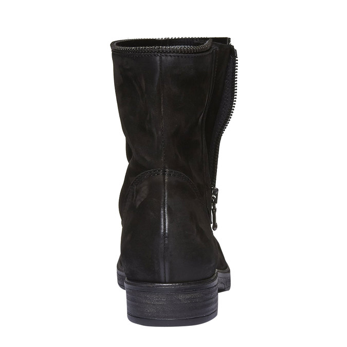Kožené kotníkové kozačky se zipem bata, černá, 594-6535 - 17