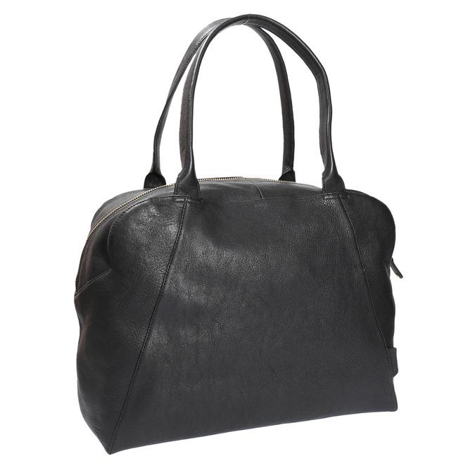 Kožená kabelka s pevnými uchy vagabond, černá, 964-6002 - 13