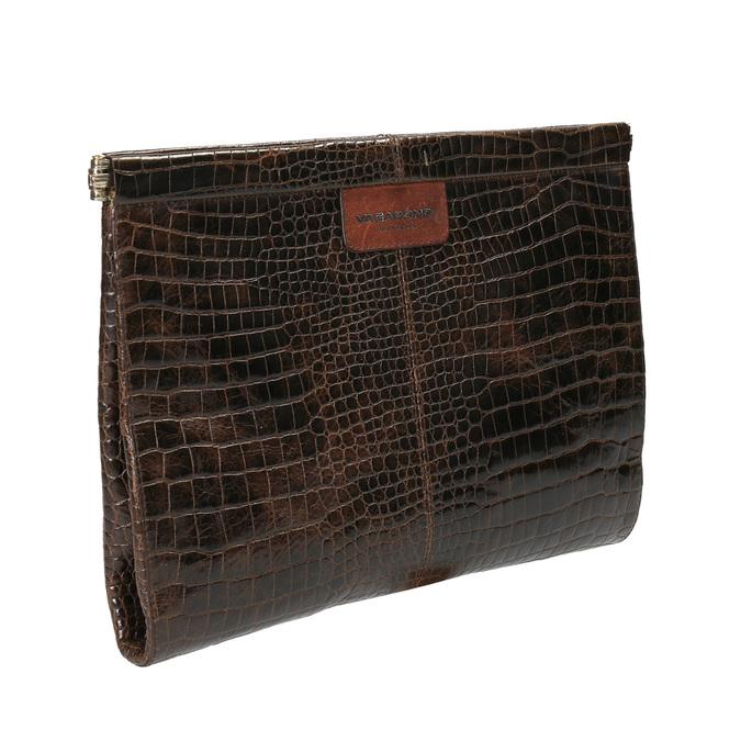 Kožené psaníčko s krokodýlím vzorem vagabond, hnědá, 966-4002 - 13