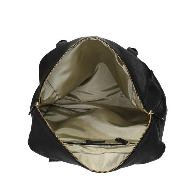 Kožená kabelka s pevnými uchy vagabond, černá, 964-6002 - 15