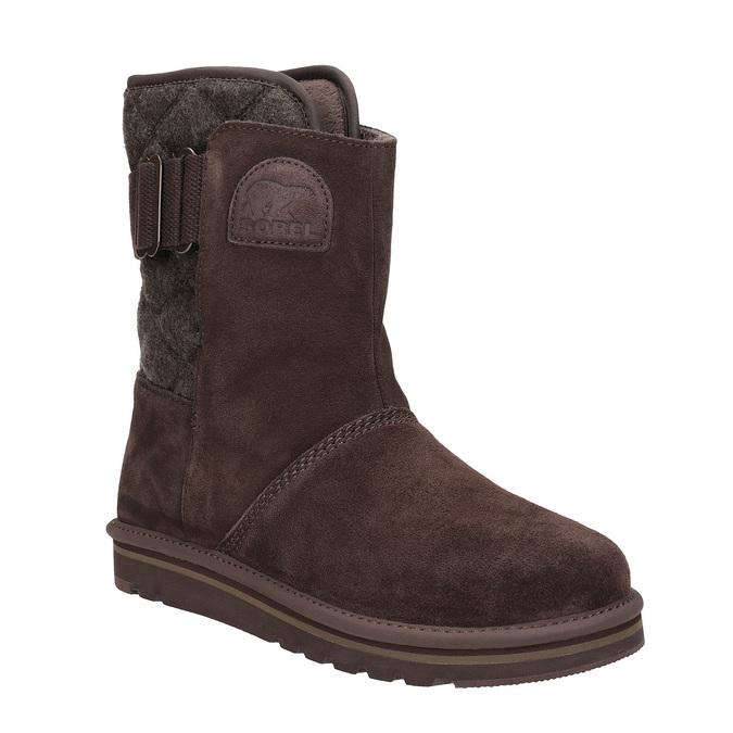 Kožená obuv typu Válenky sorel, hnědá, 693-4002 - 13