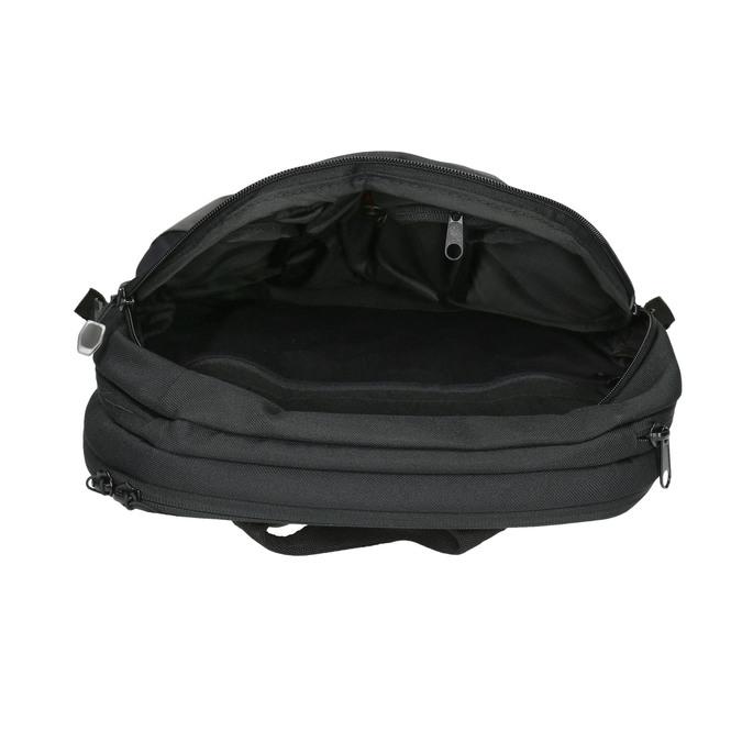 Černý ležérní batoh aevor, černá, 969-6060 - 15