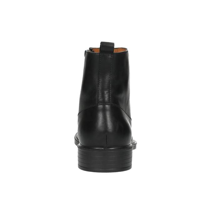 Kožená kotníčková obuv s prodyšnou podešví geox, černá, 814-6030 - 17