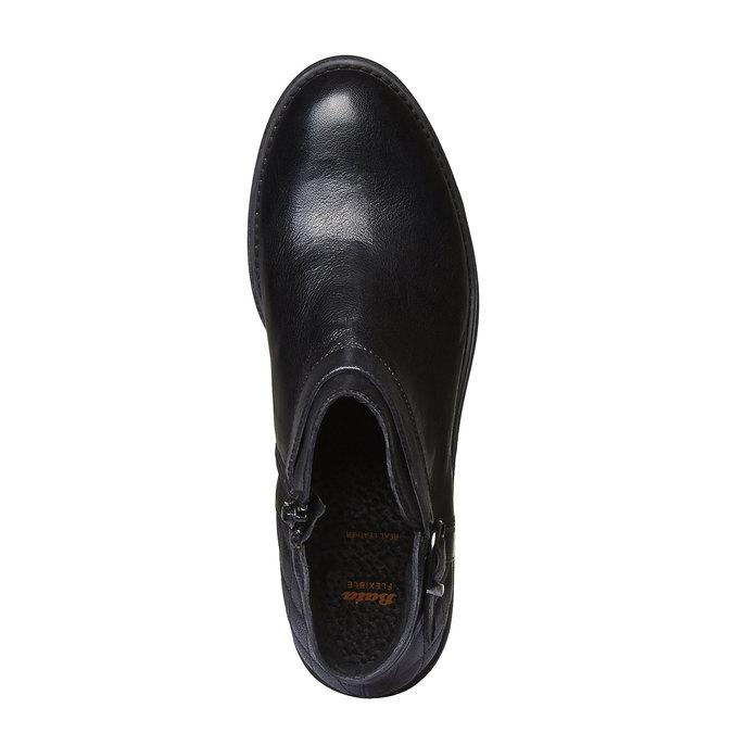 Kotníčková obuv s prošitím flexible, černá, 594-6229 - 19