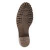 Kožená kotníčková obuv s kožíškem manas, šedá, 696-2602 - 26