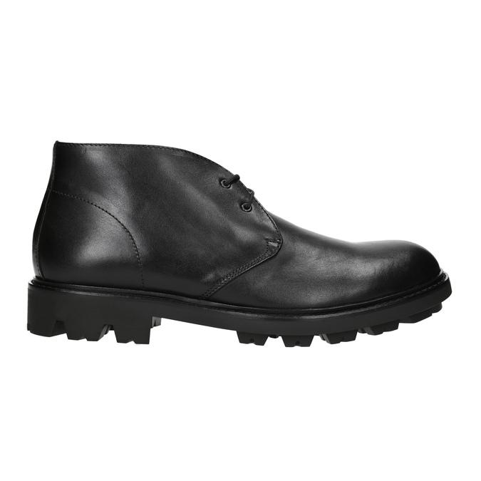 Pánská kožená obuv na výrazné podešvi bata, černá, 844-6628 - 15