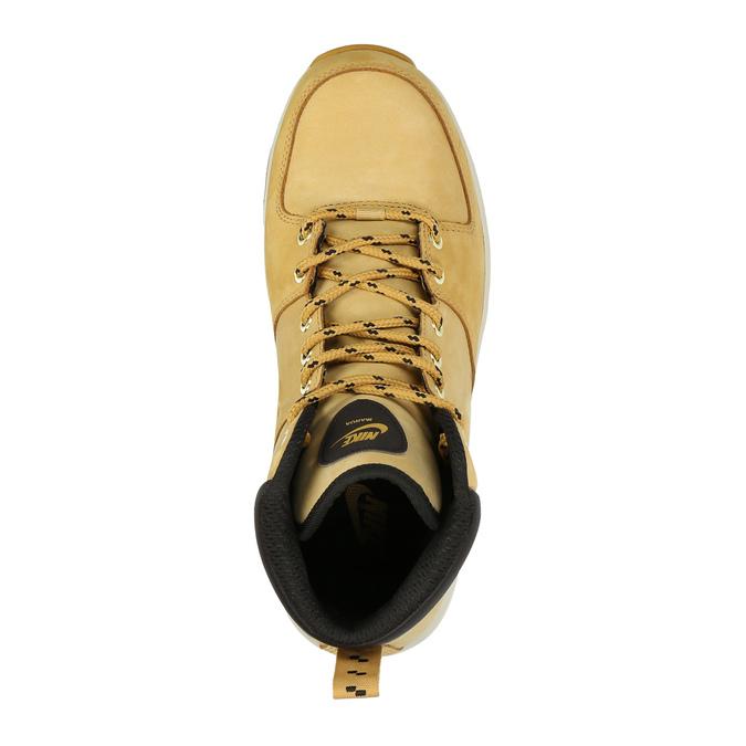 Pánská kožená kotníčková obuv nike, žlutá, 806-8435 - 19