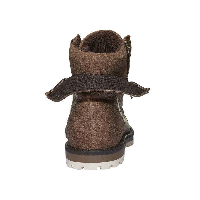 Kožené kotníkové boty se zipy bata, hnědá, 894-4102 - 17